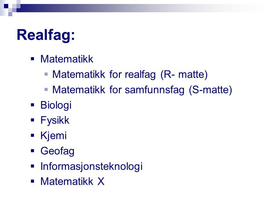 Valg av fag i prøvevalget Klikk på Velg-knappen for å velge et fag.