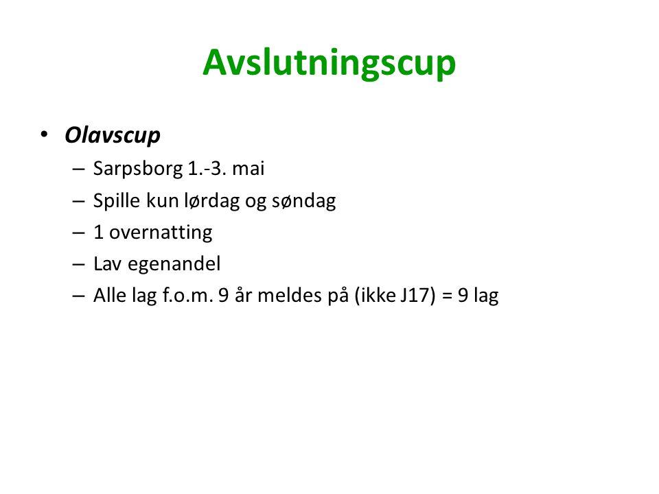 Avslutningscup Olavscup – Sarpsborg 1.-3.