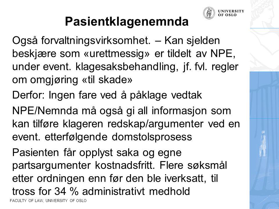 FACULTY OF LAW, UNIVERSITY OF OSLO Spekter er den dominerende arbeidsgiverorganisasjonen for virksomheter innen norsk spesialisthelsetjeneste.