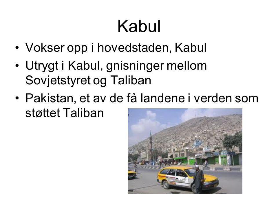 Kabul Vokser opp i hovedstaden, Kabul Utrygt i Kabul, gnisninger mellom Sovjetstyret og Taliban Pakistan, et av de få landene i verden som støttet Tal