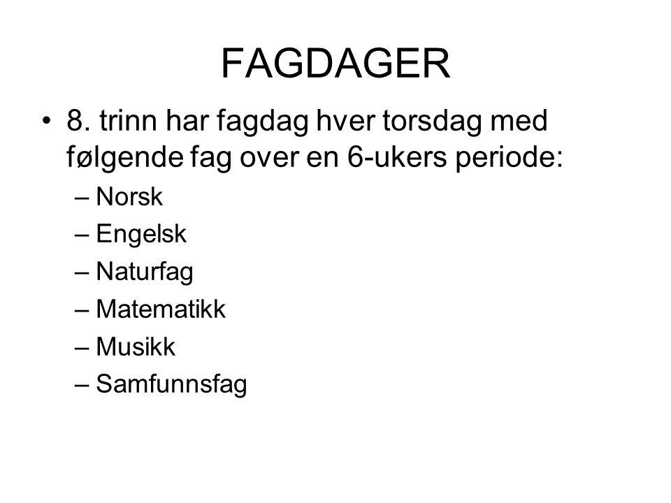 FAGDAGER 8.