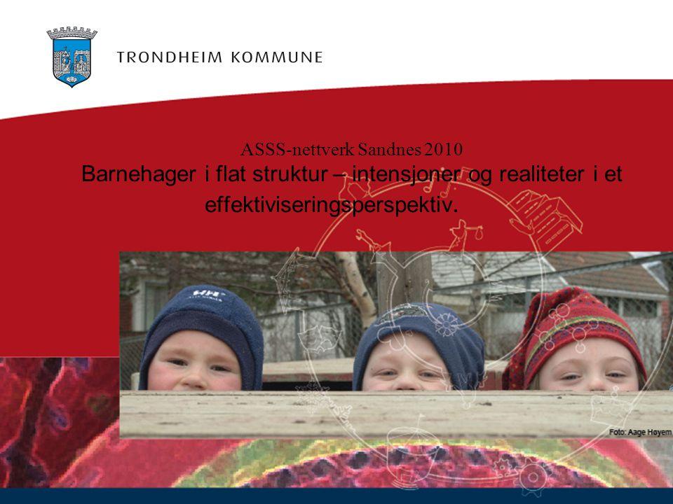 ASSS-nettverk Sandnes 2010 Barnehager i flat struktur – intensjoner og realiteter i et effektiviseringsperspektiv.
