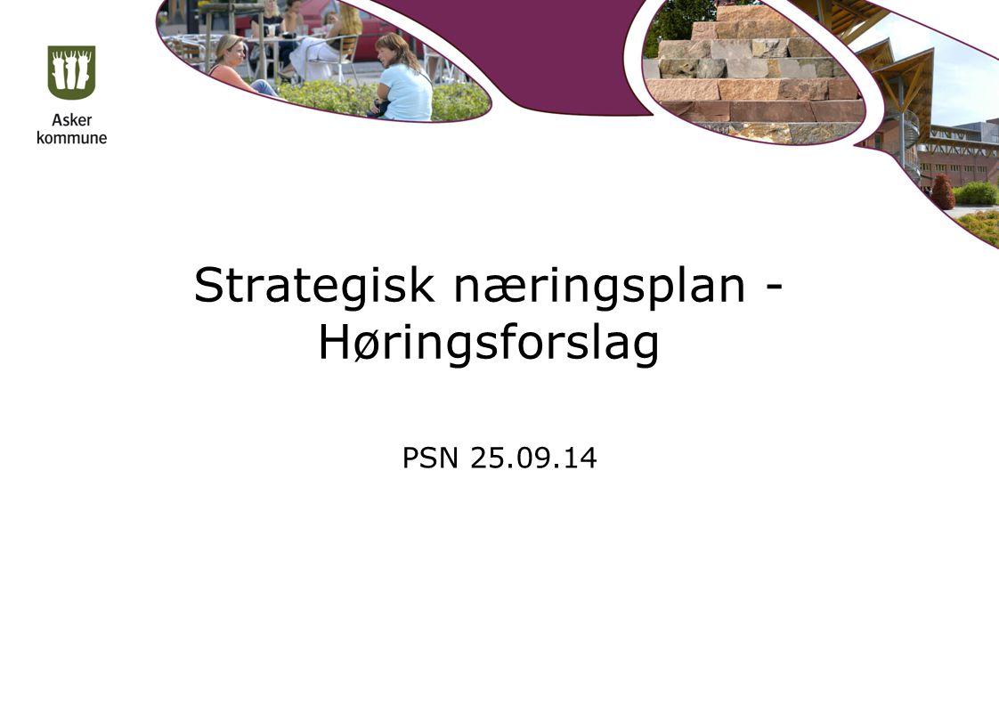Strategisk næringsplan - Høringsforslag PSN 25.09.14