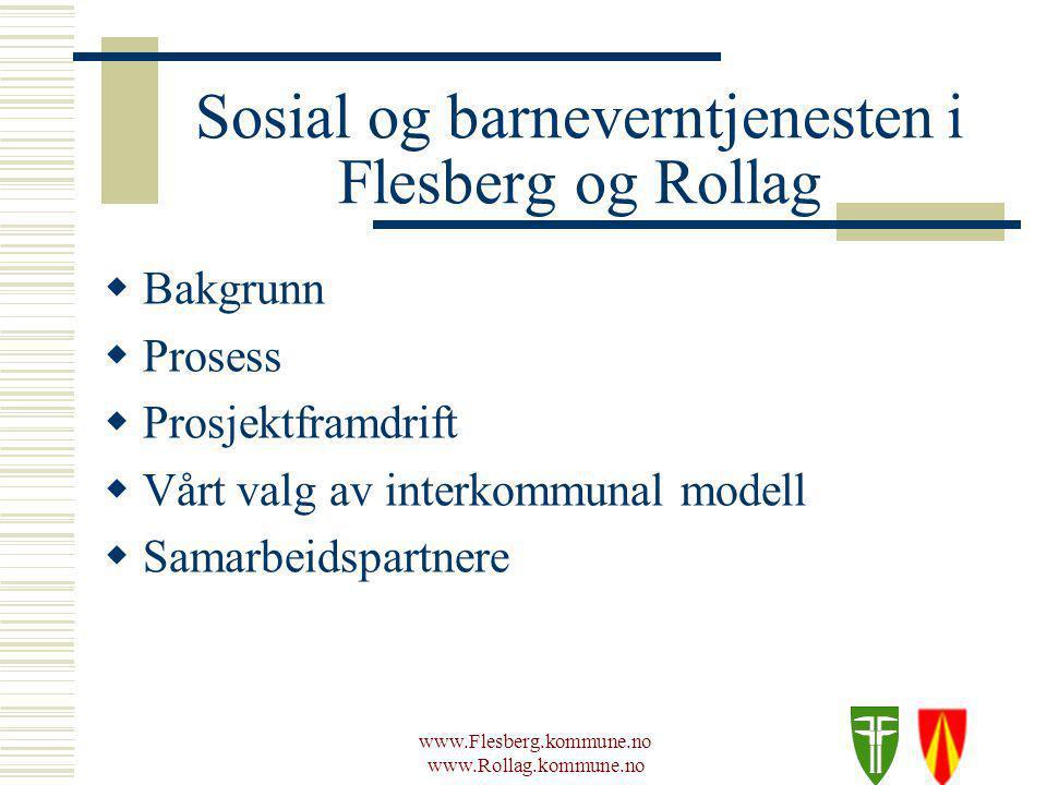 www.Flesberg.kommune.no www.Rollag.kommune.no Sosial og barneverntjenesten i Flesberg og Rollag  Små kommuner Flesberg 2500 innbyggere Rollag 1500 innbyggere  Kultur for samarbeid Lokalt Regionalt