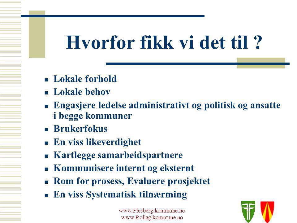 www.Flesberg.kommune.no www.Rollag.kommune.no Hvorfor fikk vi det til .
