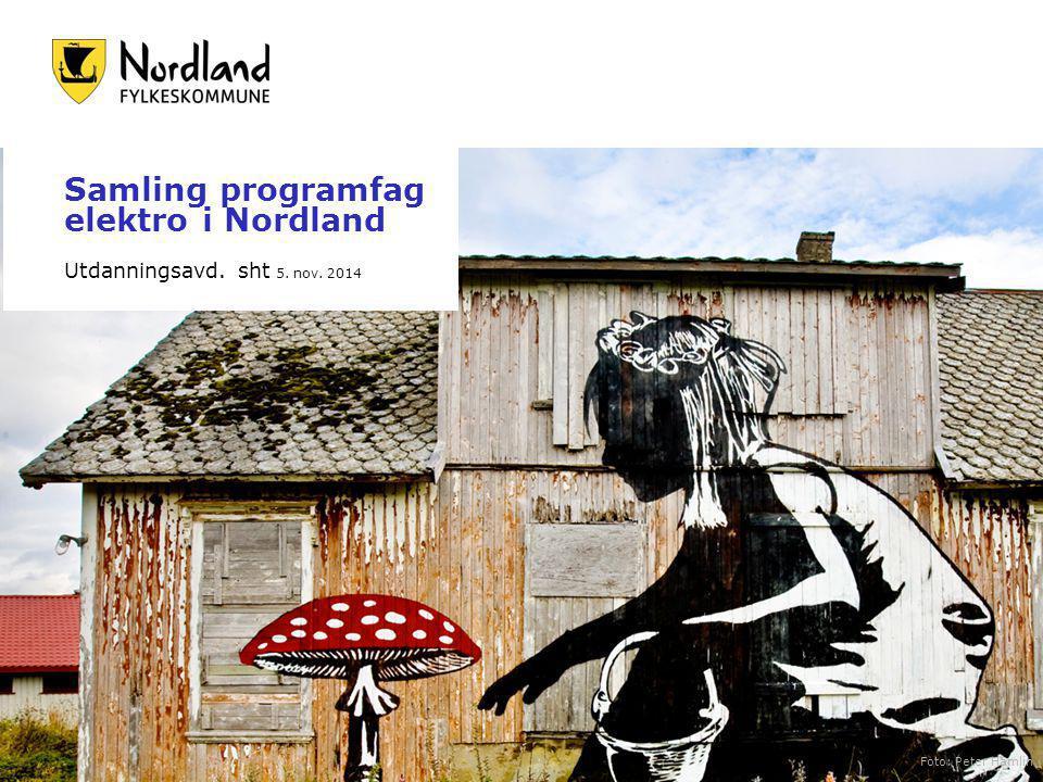 Samling programfag elektro i Nordland Utdanningsavd. sht 5. nov. 2014 Foto: Peter Hamlin