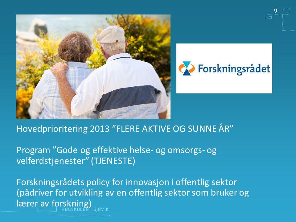 VESENTLIGE DRIVERE OG FORUTSETNINGER FOR INNOVASJON -Lederskap -Medarbeiderskap -God organisering av innovasjonsarbeidet -Synliggjøring av hva tjenesteinnovasjon i offentlig sektor er -At offentlig sektor er åpne for nye ideer -At det finnes pådrivere i offentlig sektor som kan drive prosessen frem -At ledere på ulike nivå støtter innovasjon -At det er risikovilje tilstede -Mobilitet mellom forskning og praksis -…..