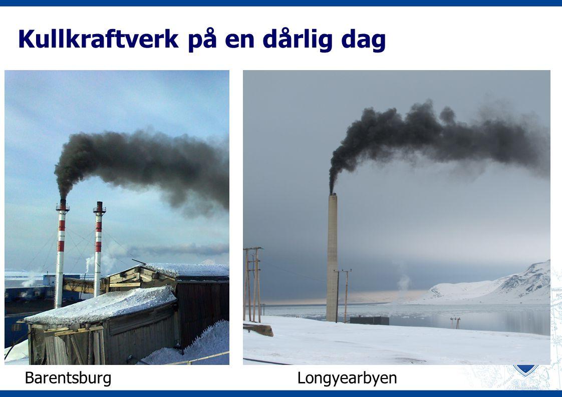 Kullkraftverk på en dårlig dag BarentsburgLongyearbyen