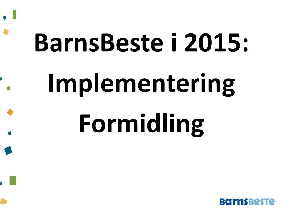 BarnsBeste i 2015: Implementering Formidling