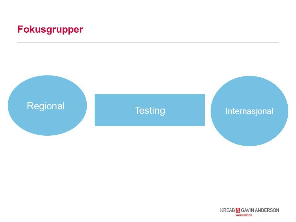 Fokusgrupper Regional Testing Internasjonal