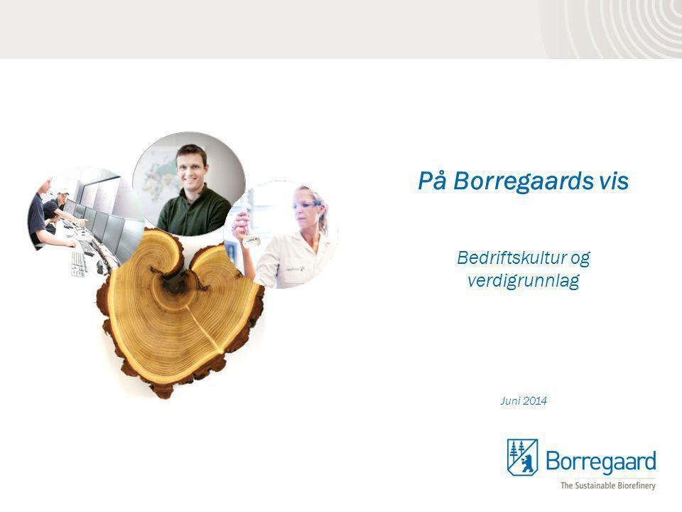 På Borregaards vis Bedriftskultur og verdigrunnlag Juni 2014