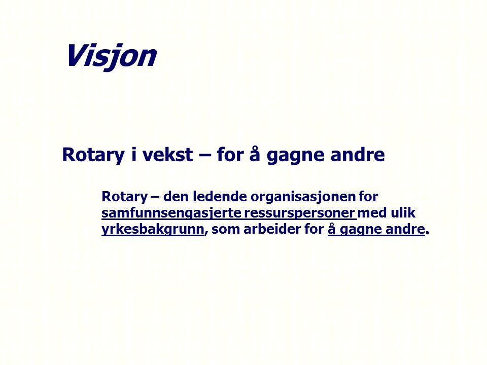 Visjon Rotary i vekst – for å gagne andre –.
