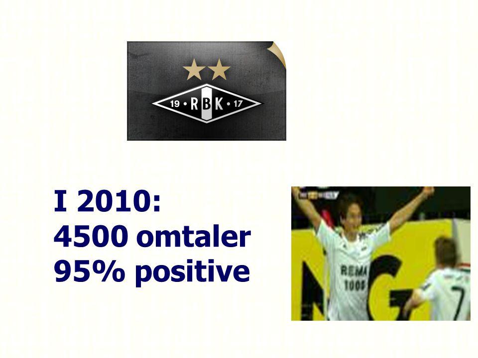 I 2010: 4500 omtaler 95% positive Bør vi ikke dele med mange flere