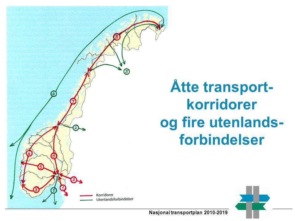 Nasjonal transportplan 2010-2019 Åtte transport- korridorer og fire utenlands- forbindelser