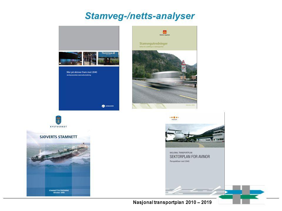 Nasjonal transportplan 2010 – 2019 Stamveg-/netts-analyser