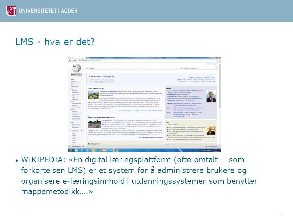 De nye plattformene (Fra MOOC) 13 Massiv, Åpen, Online, Enkelt-Kurs Verktøy for læring: JA (men lite er nytt) Moderne design: JA Administrasjon: i vår sektor???