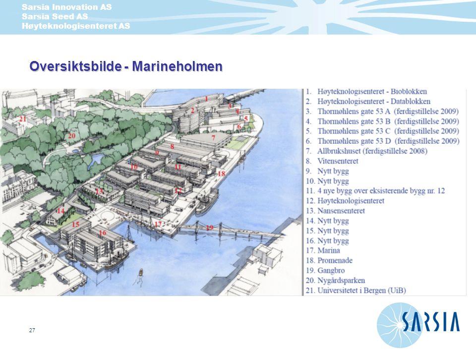 Sarsia Innovation AS Sarsia Seed AS Høyteknologisenteret AS 27 Oversiktsbilde - Marineholmen