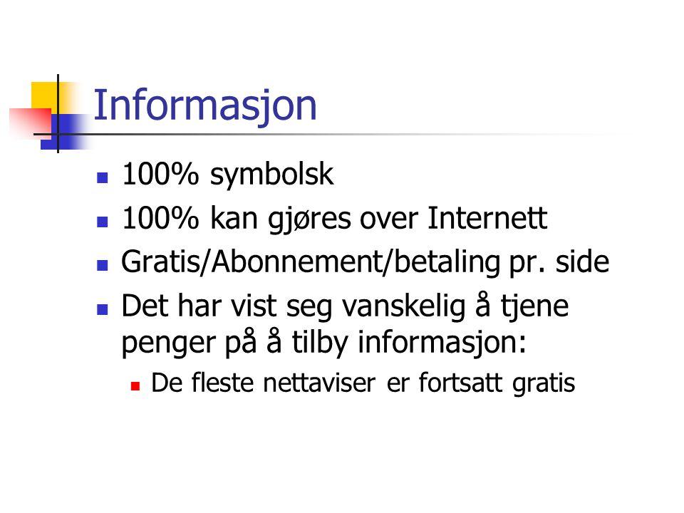 Informasjon 100% symbolsk 100% kan gjøres over Internett Gratis/Abonnement/betaling pr.