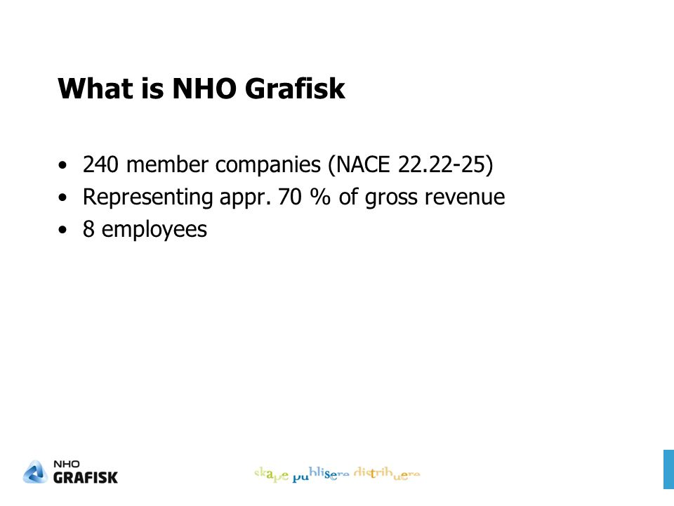 What is NHO Grafisk 240 member companies (NACE 22.22-25) Representing appr.