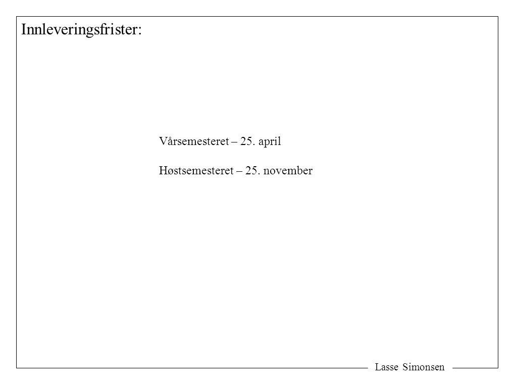 Lasse Simonsen Ikke bli for frirettslig: Jeg finner det høyst urimelig at ….