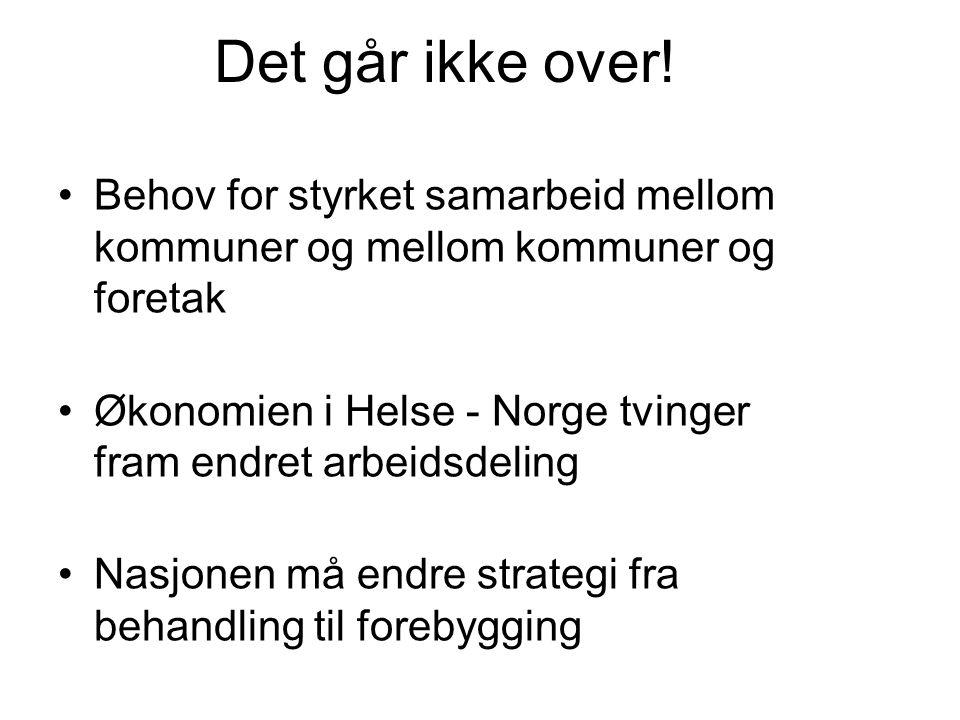 Samkjørt prosess i ST og Midt- Norge.Fram til seinest 010710 har kommunene gruppert seg .