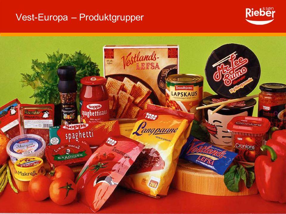 3 Vest-Europa – Produktgrupper
