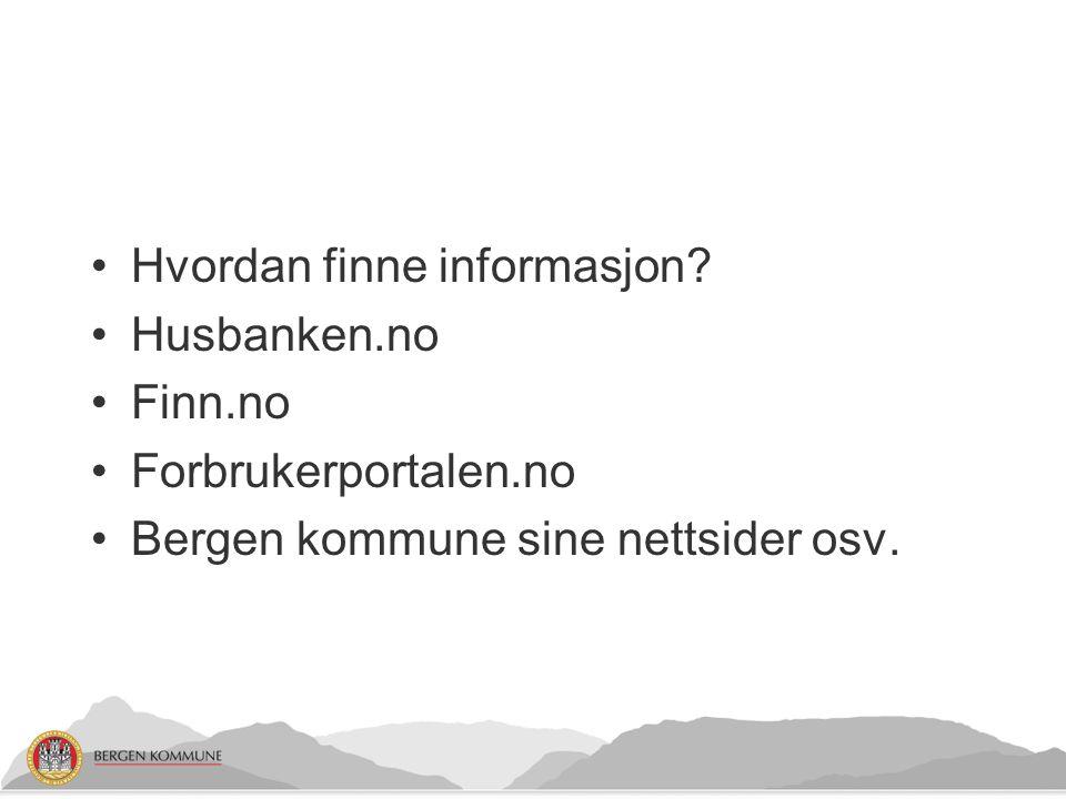 Hvordan finne informasjon.