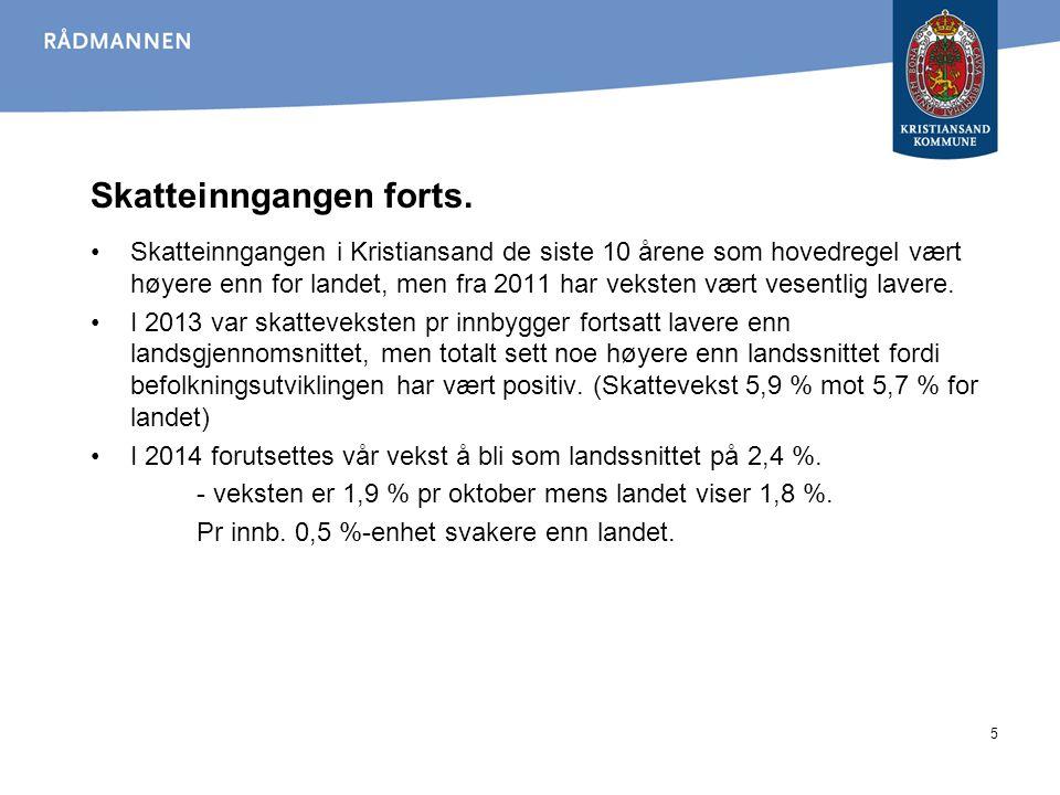 Skatteinngangen pr innbygger 2007-2013 6