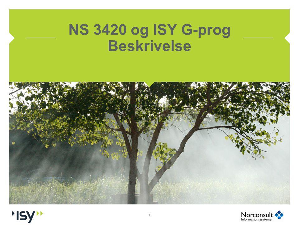 NS 3420 og ISY G-prog Beskrivelse 1