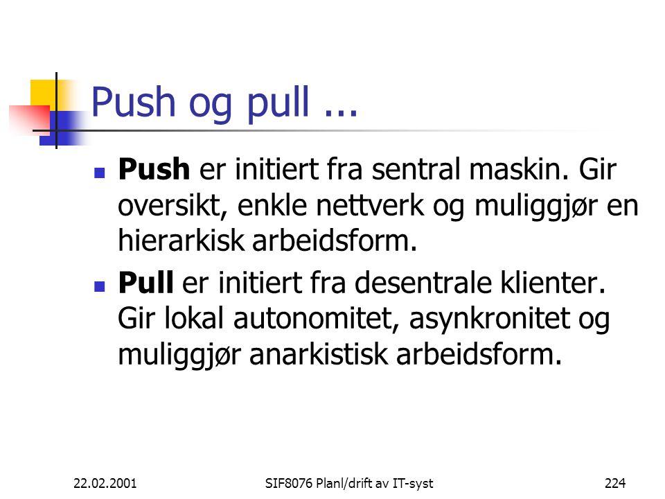 22.02.2001SIF8076 Planl/drift av IT-syst224 Push og pull...