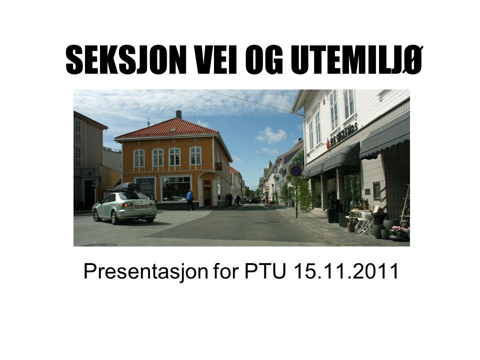 SEKSJON VEI OG UTEMILJØ Presentasjon for PTU 15.11.2011