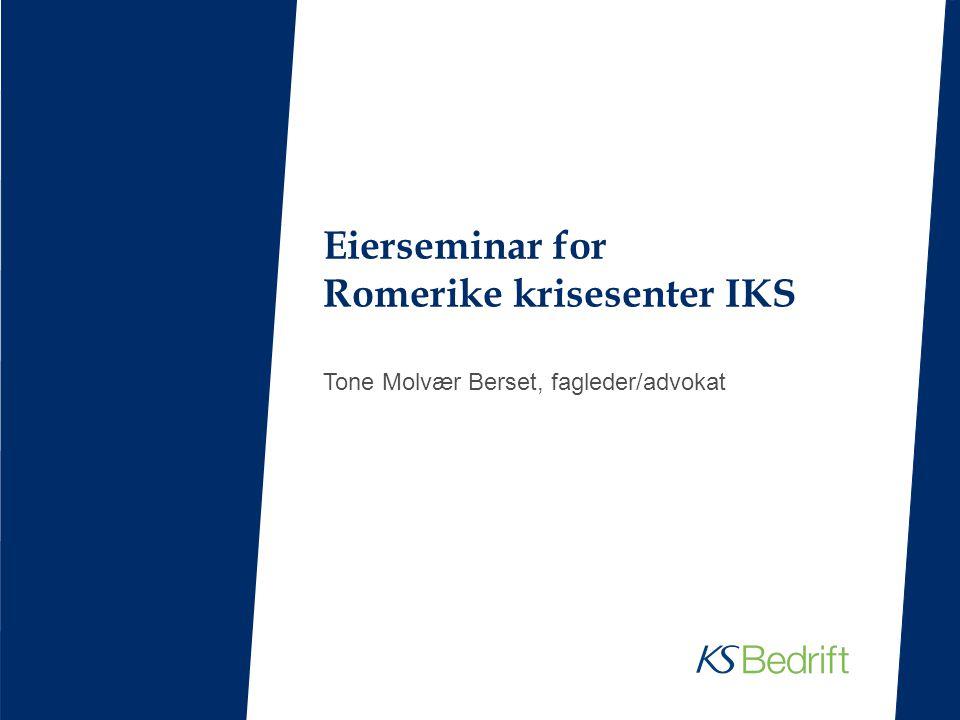 Eierseminar for Romerike krisesenter IKS Tone Molvær Berset, fagleder/advokat