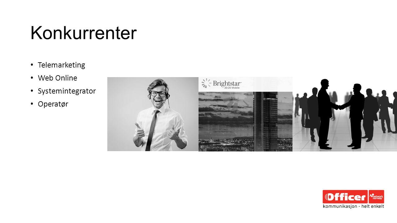 Konkurrenter Telemarketing Web Online Systemintegrator Operatør