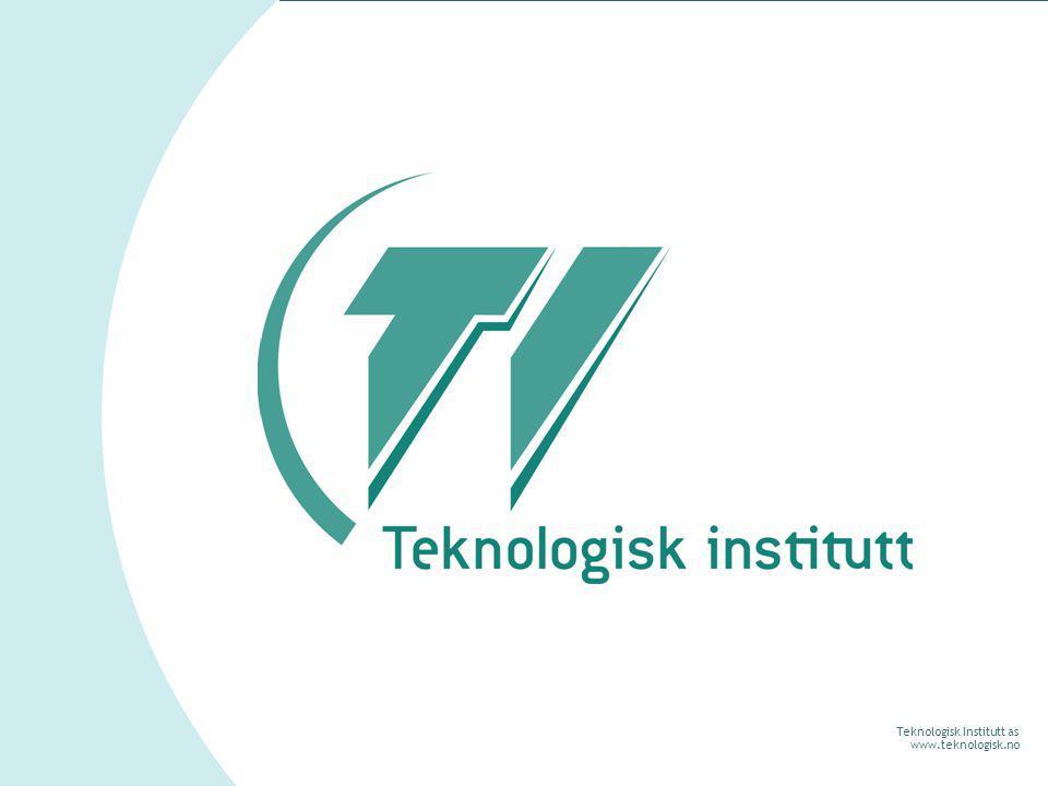 Teknologisk Institutt as www.teknologisk.no Teknologisk Institutt Bistår bedrifter med å utvikle kompetanse og teknologisk innsikt Praktisk bindeledd mellom forskning og næringsliv 240 ansatte Kontorer i Oslo, Kongsberg, Stavanger, Ågotnes, Lødingen, Stavanger, Gjøvik