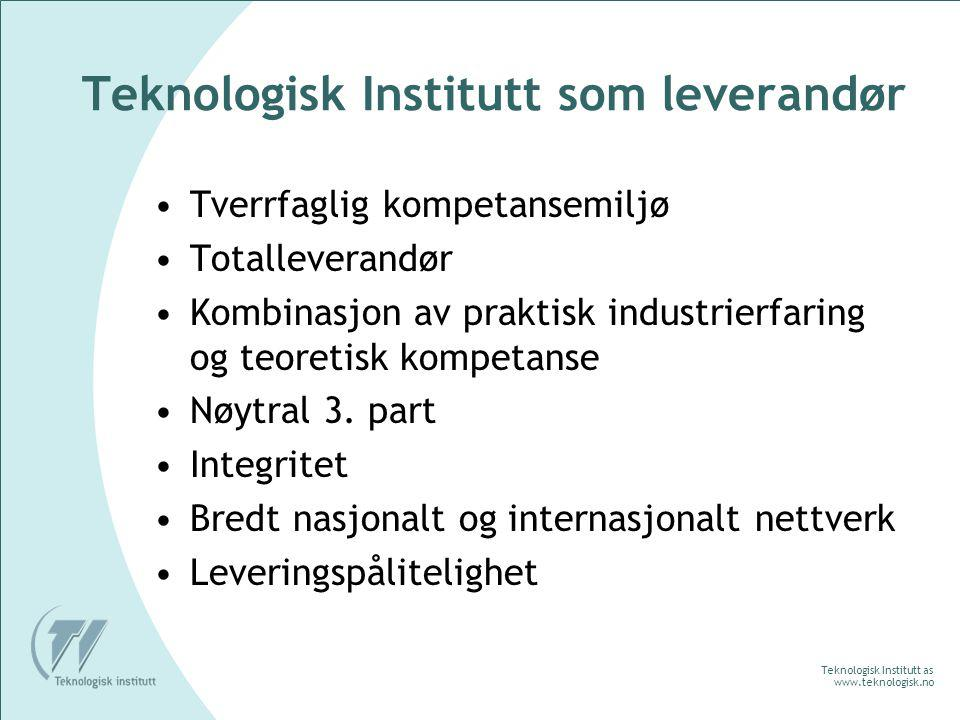 Teknologisk Institutt as www.teknologisk.no Bygg og Innemiljø Bygningsarv Fukt og våtrom Overflater Innemiljø Renhold