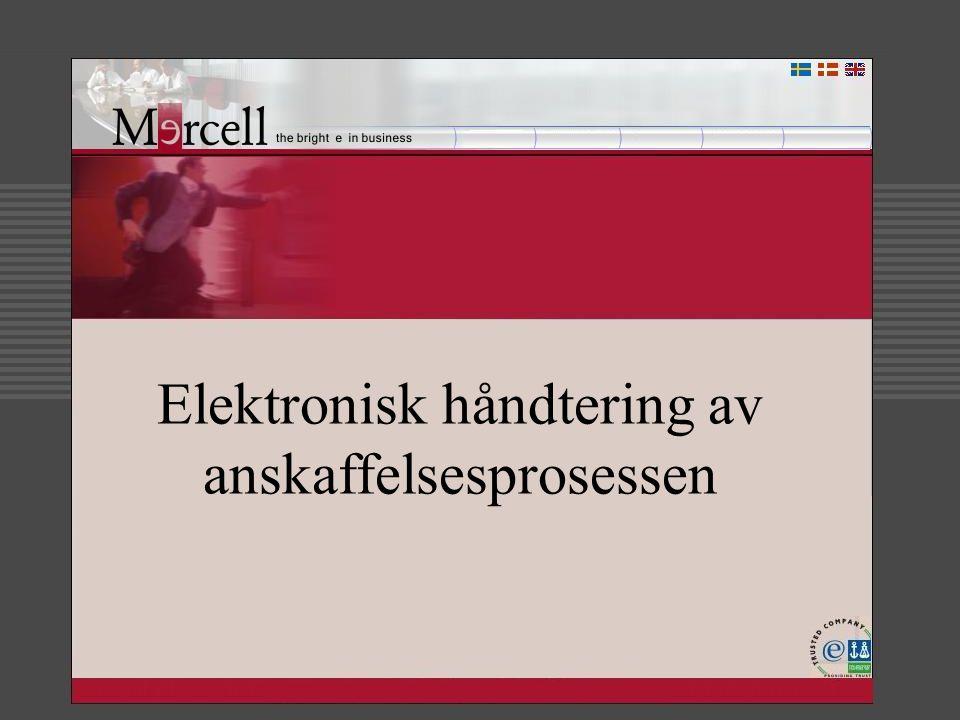 Agenda Kort informasjon om Mercell Samarbeidspartner sikkerhetsportal Hvorfor implementering av elektronisk signatur Praktiske / Tekniske utfordringer Noen skjermbilder av signeringsprosessen Offentlige initiativ – som berører Mercell Oppsummering