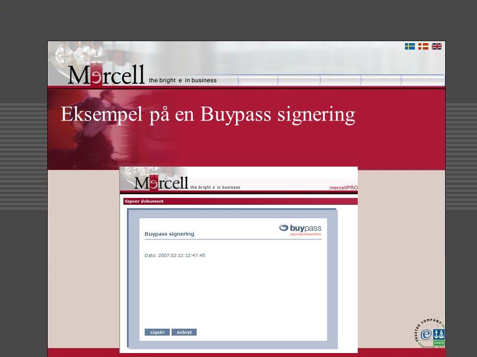 Eksempel på en Buypass signering