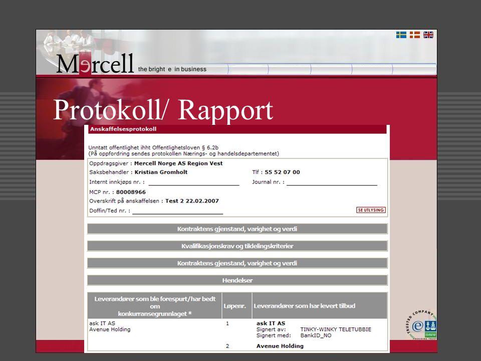 Protokoll/ Rapport