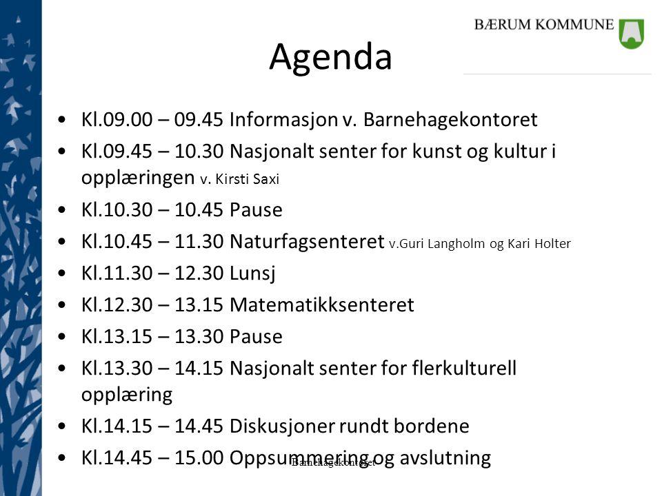 Barnehagekontoret Fra 01.08.2014: Vedtak om spesialpedagogisk hjelp og Organisering av spesialpedagogene overføres fra Haug skole og ressurssenter til Barnehagekontoret