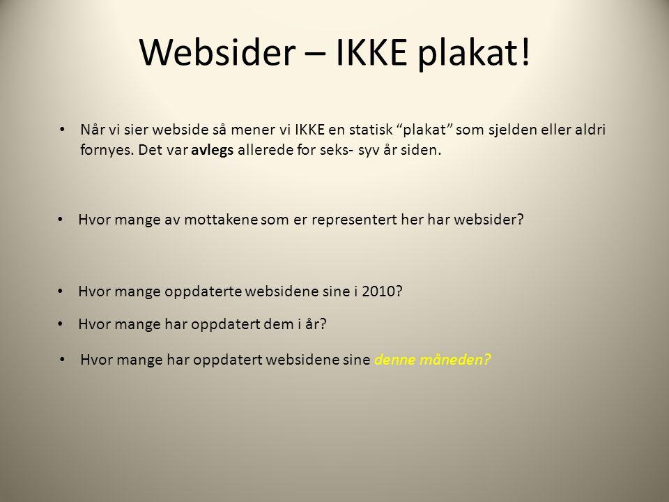Websider – IKKE plakat.