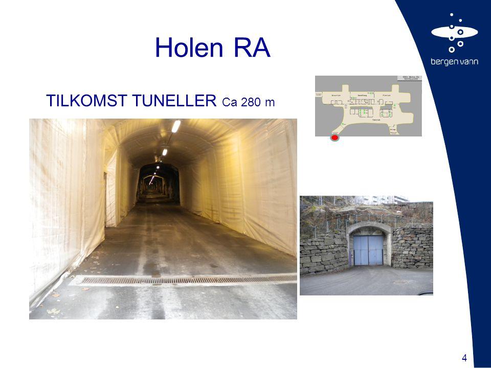 4 TILKOMST TUNELLER Ca 280 m Holen RA