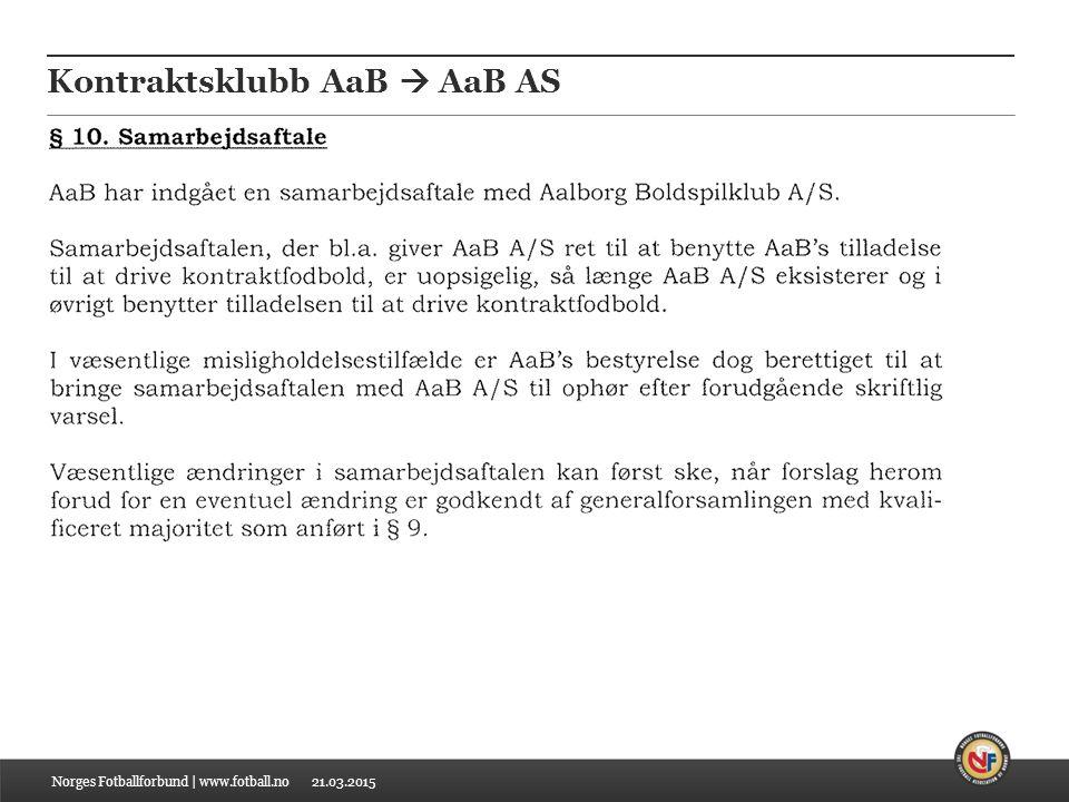 21.03.2015 Kontraktsklubb AaB  AaB AS Norges Fotballforbund | www.fotball.no