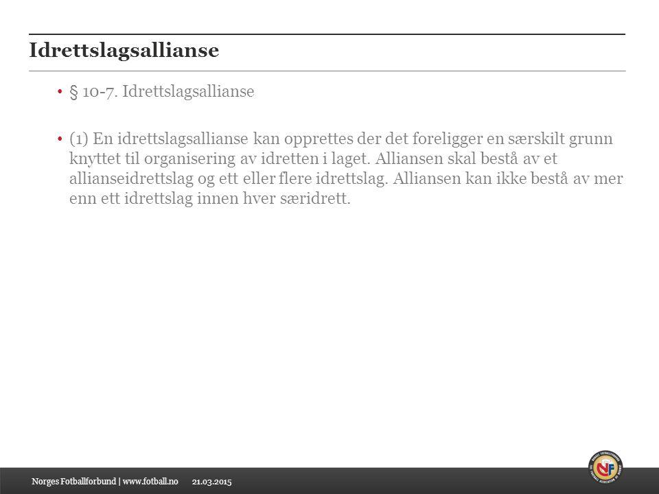 21.03.2015 Idrettslagsallianse § 10-7.