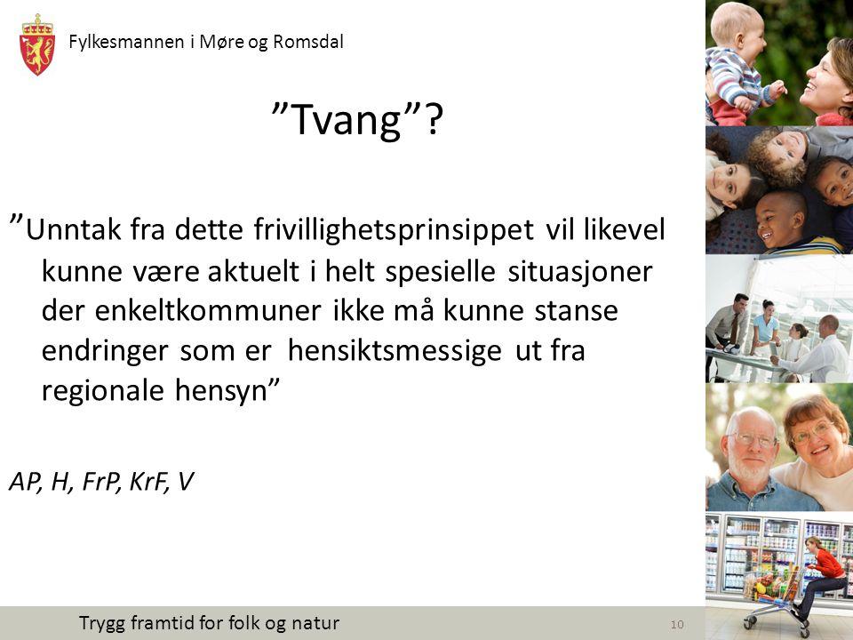 Fylkesmannen i Møre og Romsdal Trygg framtid for folk og natur Fra oppdragsbrevet, forts.