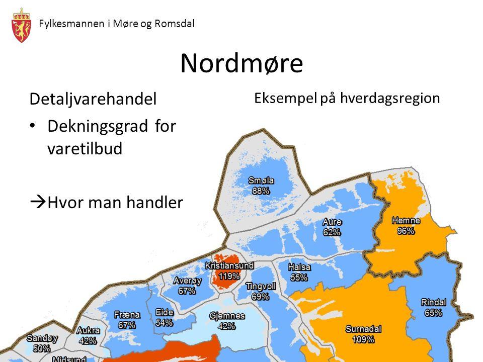 Fylkesmannen i Møre og Romsdal Nordmøre Reisetid fra senter Rindal