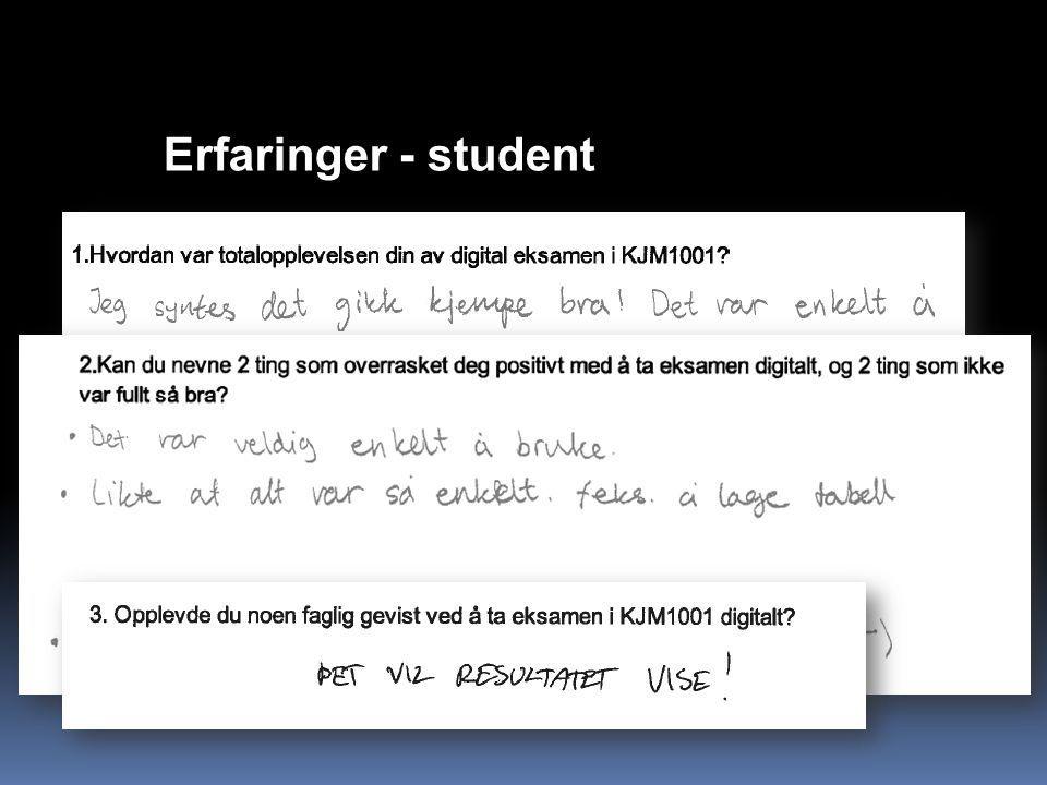 Erfaringer - student