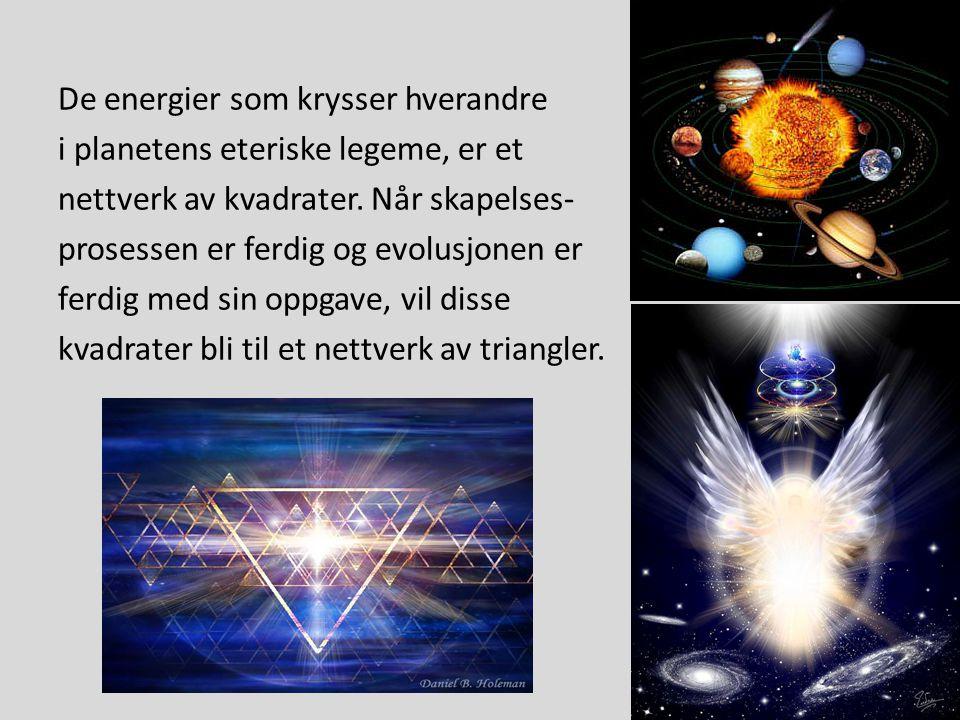 De energier som krysser hverandre i planetens eteriske legeme, er et nettverk av kvadrater. Når skapelses- prosessen er ferdig og evolusjonen er ferdi