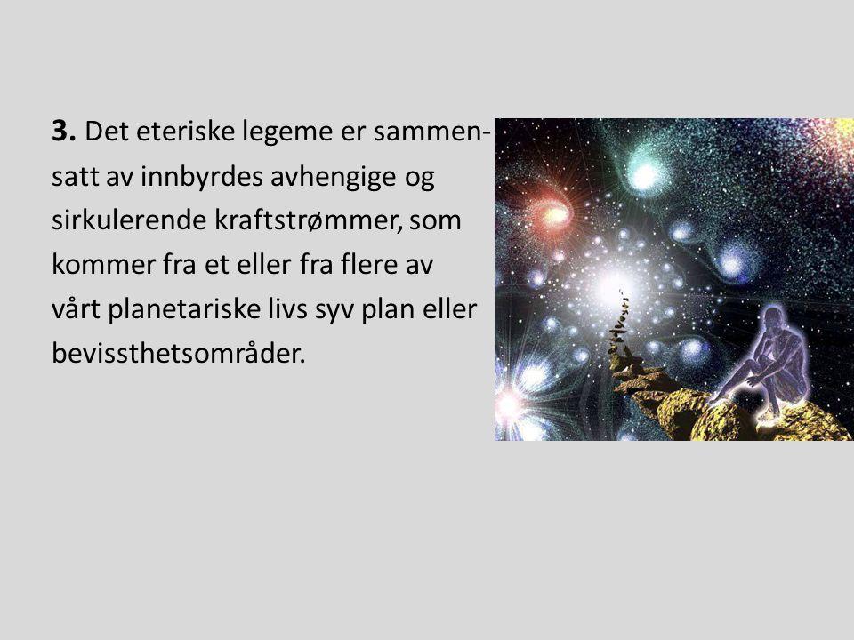 Dette kan være astralplanet eller den åndelige triades plan, for ingen av energiene fra et eller annet plan, uansett hvor høyt, kan kontrollere det fysiske legeme, unntatt på denne måte.
