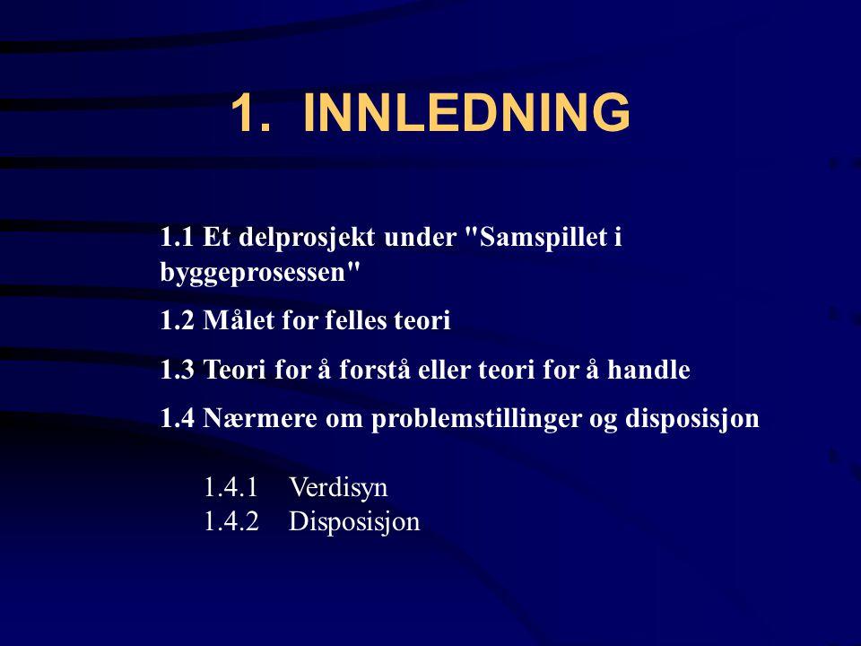 1. INNLEDNING 1.1Et delprosjekt under