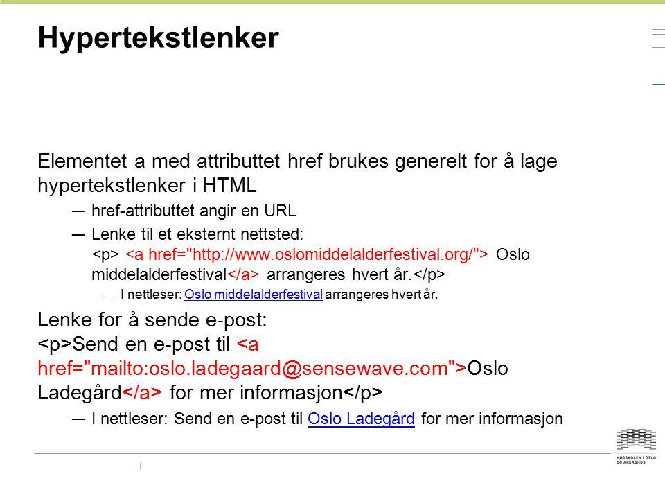 Flickr — http://www.flickr.com/ http://www.flickr.com/ — Search > Advanced Search > Only search within Creative Commons-licensed content — lisensen finnes til høyre under License — Attribution - oppgi opplysning om hvem som har tatt bildet — Noncommercial - ikke tjern penger på bildet — No Derivative Works - ikke endre bildet